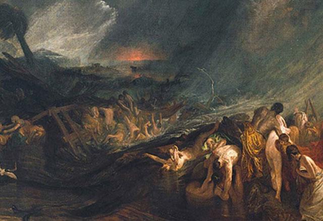 dampak letusan gunung thera/santorini