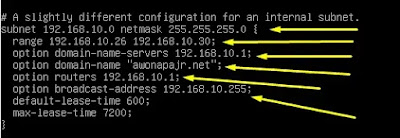 Replace Configuration DHCP Server