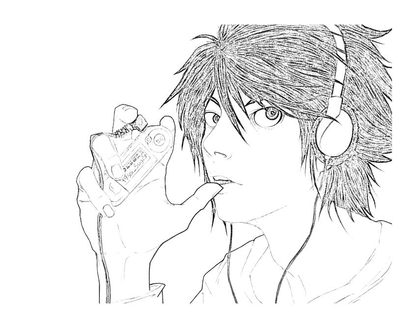 deathnote coloring pages - photo#25