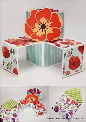 Triple Pop Up Cube Card in blumiger und winterlicher Variante Stampin' Up! www.eris-kreativwerkstatt.blogspot.de