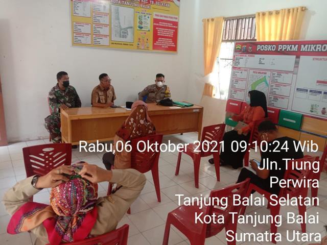 Rapat Pendataan Warga Tentang Pelaksanaan Vaksin Dilakukan Personel Jajaran Kodim 0208/Asahan