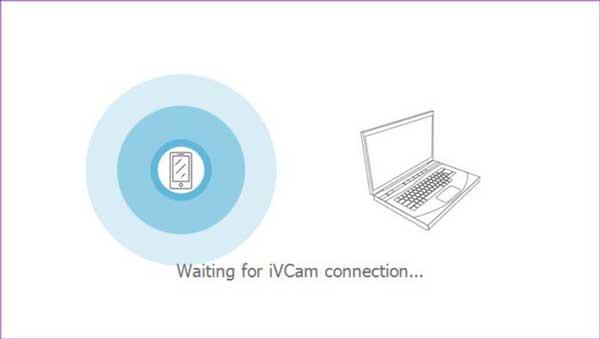 iVCam konek otomatis antara aplikasi ponsel dan laptop pc