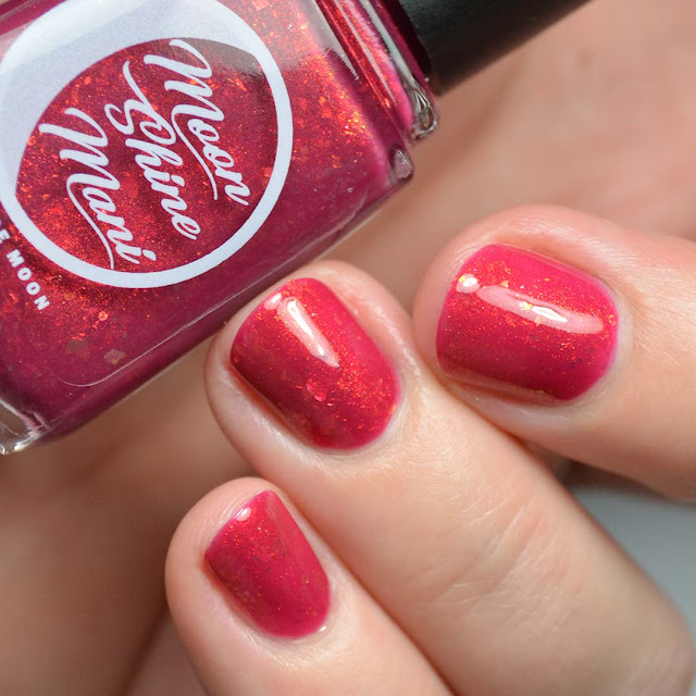 beet red nail polish swatch