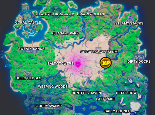 Location of the golden EP coin