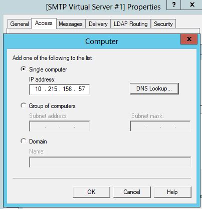 add the ip adress or domainname of machine 1