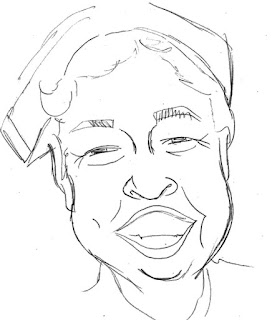 Eleanor Roosevelt Caricature by Ian Davy Brown