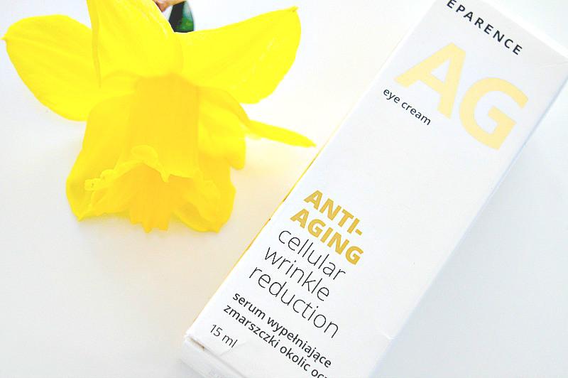 eparence, anti-aging, eye cream, serum wypełniające zmarszczki okolic oczu, kosmetyki pielęgnacyjne.