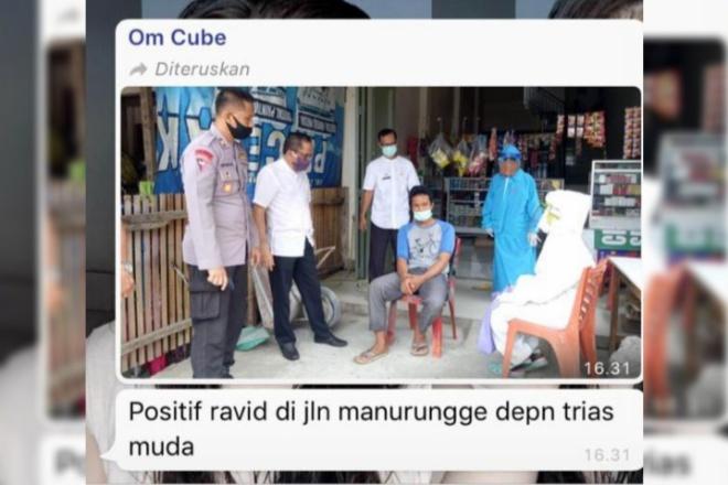 Kabar Ada Pasien Positif  di Jl Manurunge Watampone Ternyata HOAX