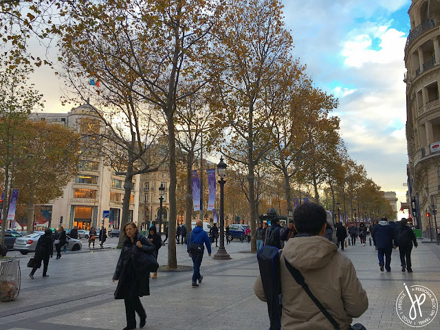 people walking on paris' shopping street