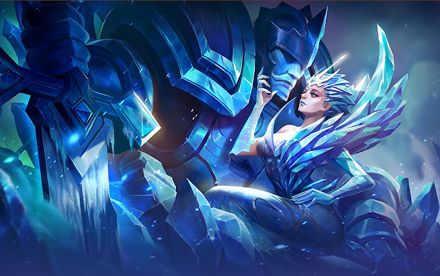 Aurora Queen of the North Heroes Mage of Skins Mobile Legends Wallpaper HD for PC