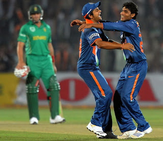India vs South Africa 1st ODI 2010 Highlights