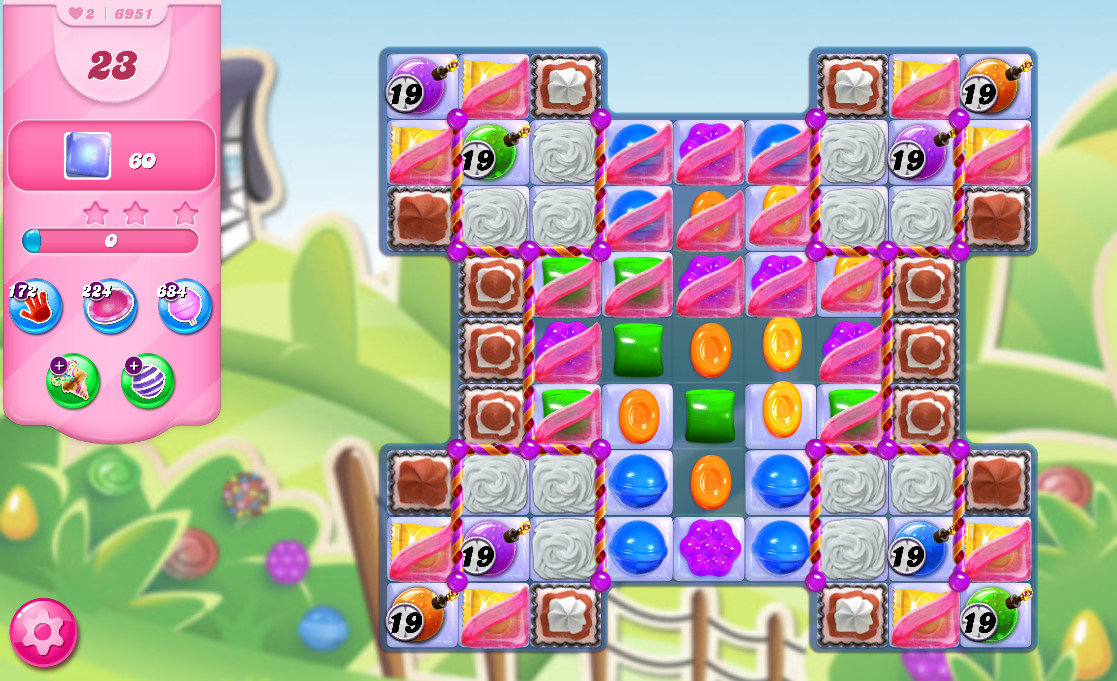 Candy Crush Saga level 6951