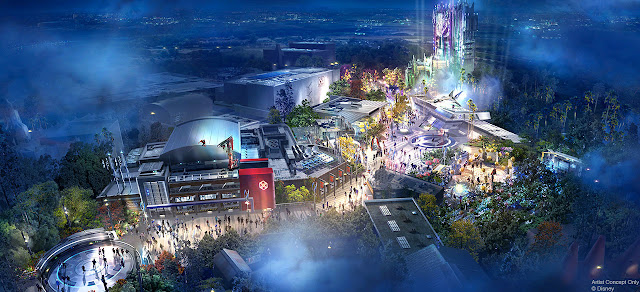 Avengers Campus Concept Art Disney California Adventure