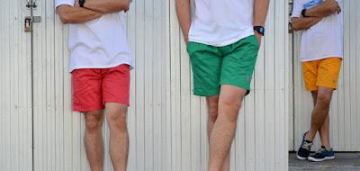 กางเกงขาสั้นชายเอวยางยืด
