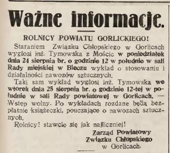 Biecz rolnicy powiat gorlicki 1931