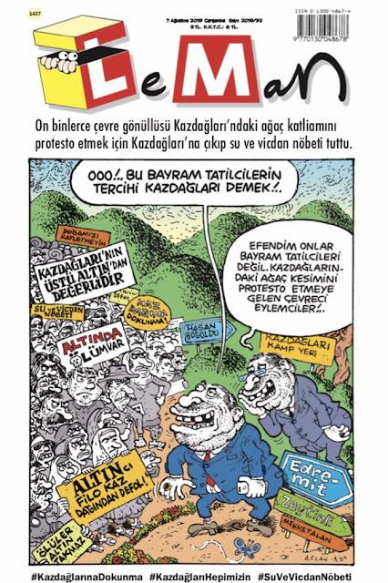 leman dergisi 7 ağustos 2019 kapak karikatürü
