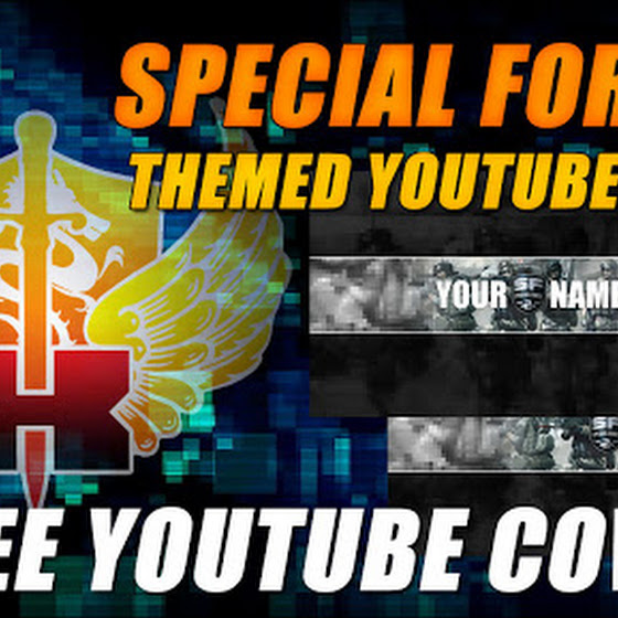 Free Special Force 2 Themed YouTube Cover / Channel Art For Your YouTube Channels