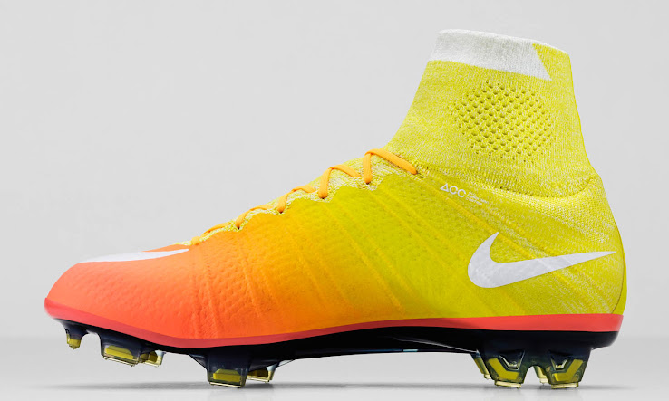 separation shoes b5600 858c8 ... color gradient design, the midsole of the boots is solid dark orange,  whereas the outsole of the Yellow   Orange Nike Mercurial Superfly 2016  Women s ...