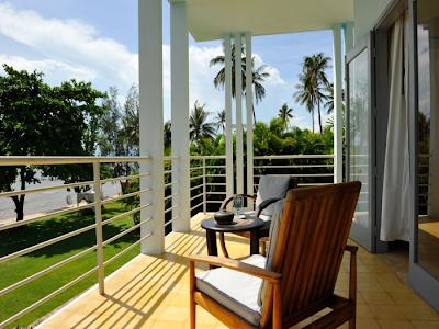 Veranda con vista mare al Knai Bang Chatt