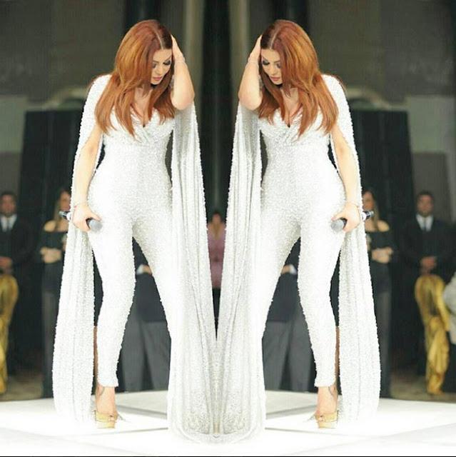 La tenue de Haifa Wahbi à la Saint Valentin