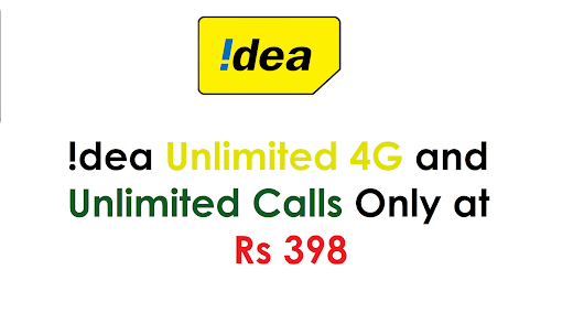 Idea Offer - Get Daily 1GB 4G Data and Unlimited Calls Only at Rs 398 for 84 Days