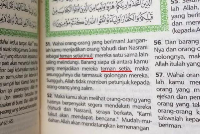 Al Maidah Diubah, Begini Penjelasan Kementrian Agama