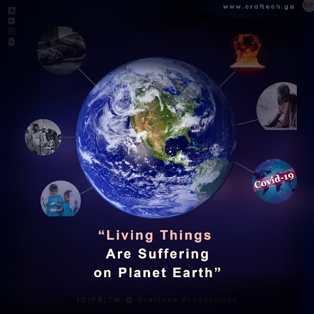 Living things are suffering on earth