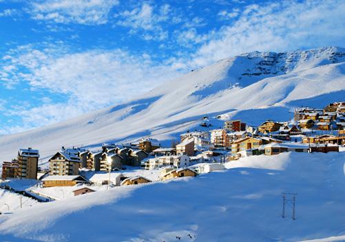 Infraestrutura na estação de esqui La Parva