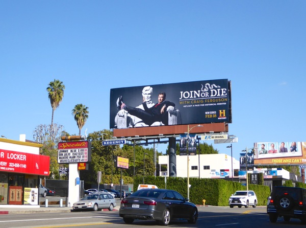 Join or Die History billboard