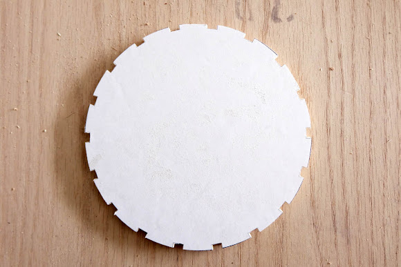 notches cut band saw circle light fixture DIY template