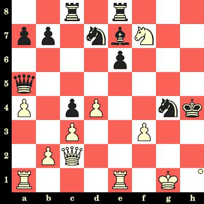 Les Blancs jouent et matent en 4 coups - Nona Gaprindashvili vs Juraj Nikolac, Wijk aan Zee, 1979
