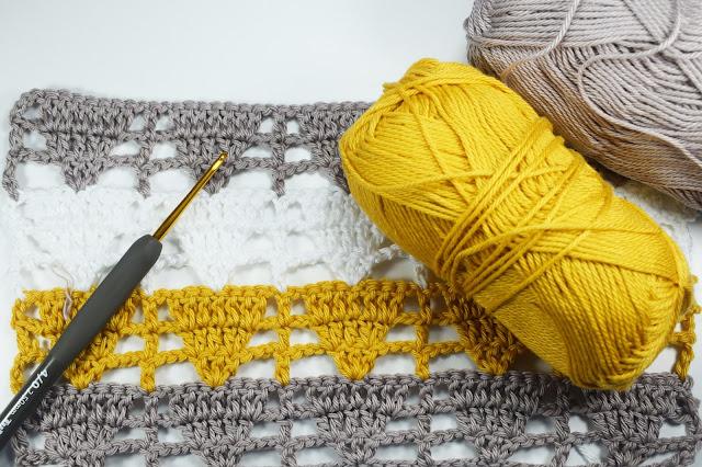 1 - Crochet Imagen Puntada de triangulo calada a crochet y ganchillo por Majovel Crochet