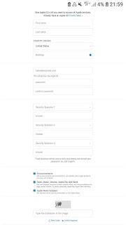 Cara Membuat ID Apple Baru Di Perangkat Android atau komputer