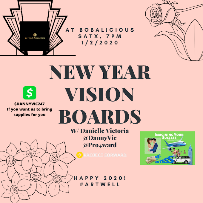 NEW YEAR VISION BOARDS W/ Danielle Victoria at Bobalicious Cafe