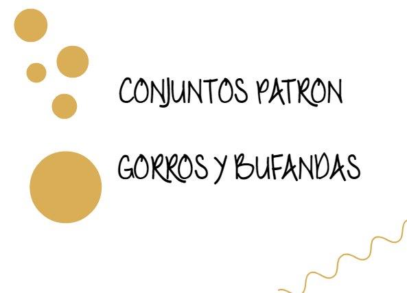 Conjunto Bufanda y Gorro Amarillos Patron