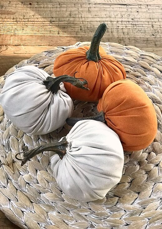 Pumpkins to decorate a 3 tiered tray for fall