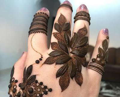 arabic mehndi design for fingers