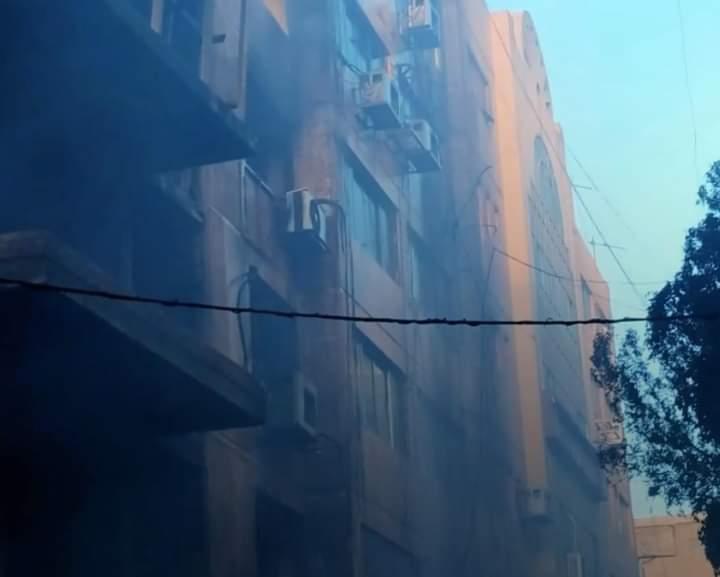 حريق هائل بالقاهره استغرق سعات لاخماده في سور التوفيقية