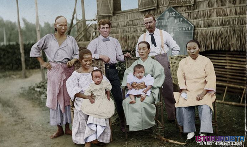 Chinese, American, Japanese and Filipino residents (c1900s)