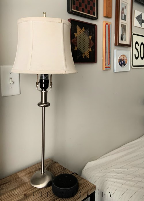 thrift store finds - lamp and lamp shade