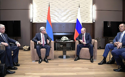 Vladimir Putin had a meeting with President of Armenia Serzh Sargsyan in Sochi.