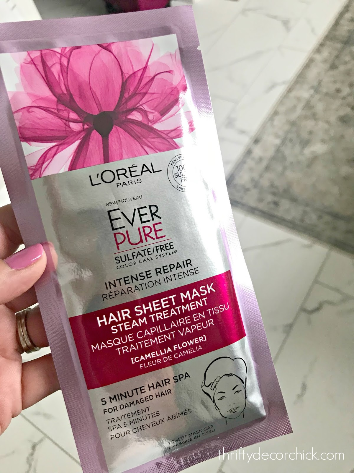 Loreal in shower hair mask