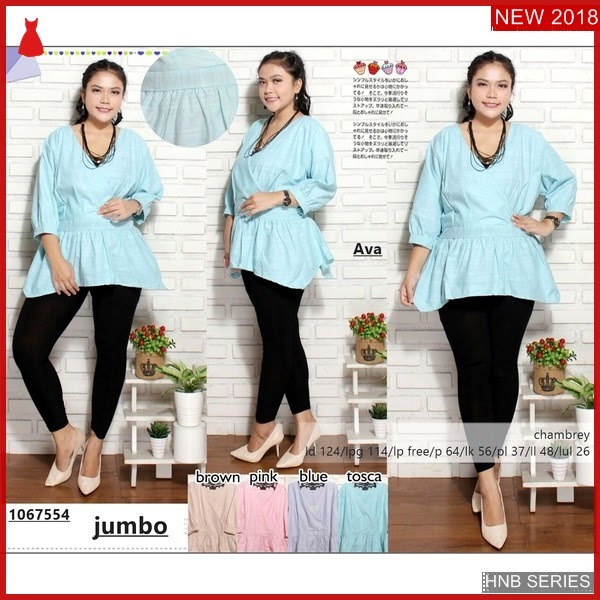 HNB127 Model Baju Ukuran Besar Jumbo Dress Bigsize BMG Shop