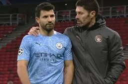 Aguero left the pitch unhappy due to lack of passes from team-mates