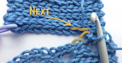 Joining ends of slip stitches