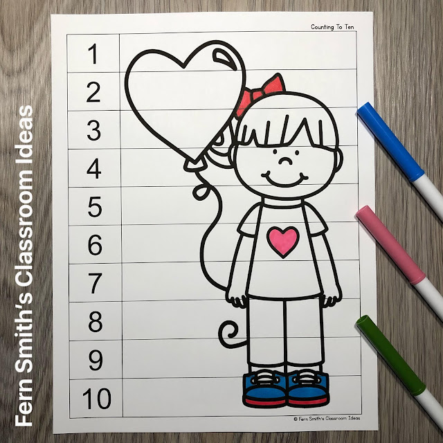 Click Here to Download these Valentine's Day Counting Puzzles for Your Classroom Today!