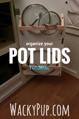 Organize your pot lids with this easy tutorial