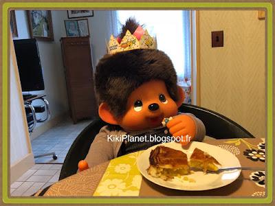 monchhichi, kiki, galette des rois, épiphanie