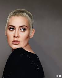 adele shaved head, new haircut