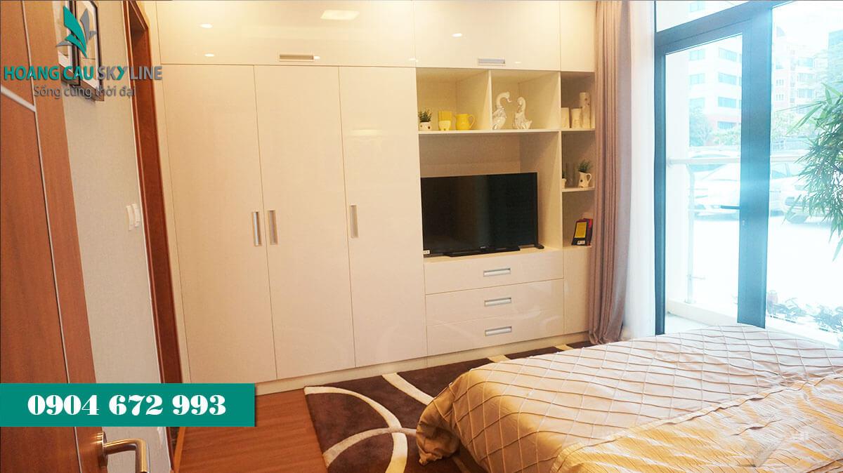 Phòng ngủ dự án chung cư Hoàng Cầu Skyline